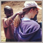 Lulu getting her hair braided